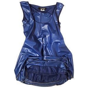 Junya Watanabe Comme Des Garçons Blue Mini Dress